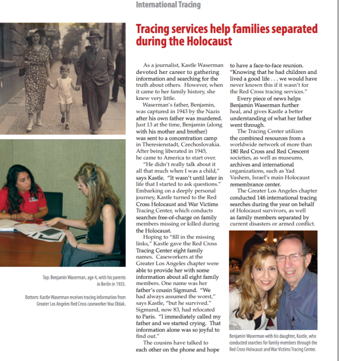 Red Cross Article Tracing Service